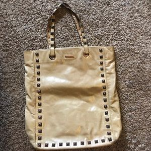Rebecca Minkoff gold leather tote
